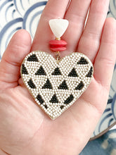 Alice Heart Earrings-Cream