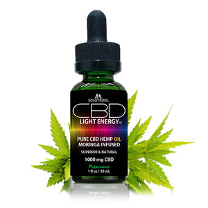 8. CBD Light Energy 1,000mg (Moringa Infused)