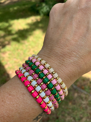 Colorful bead bracelets