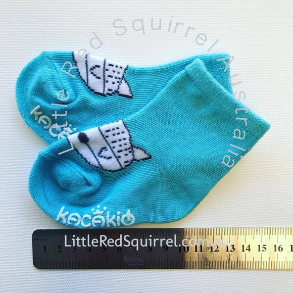 Blue fox socks - toddler