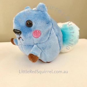 Small blue squirrel plush keyring (not a toy!) (1 piece)