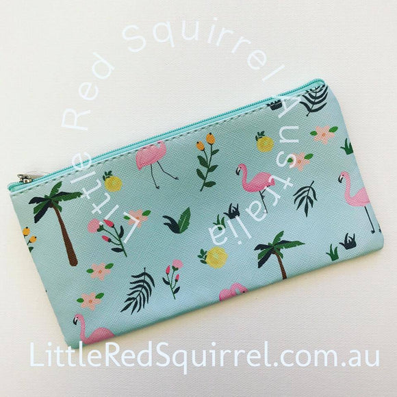 Flamingo PU pencil case