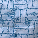 Blue floral light sabre (one yard/91cm) - cotton lycra