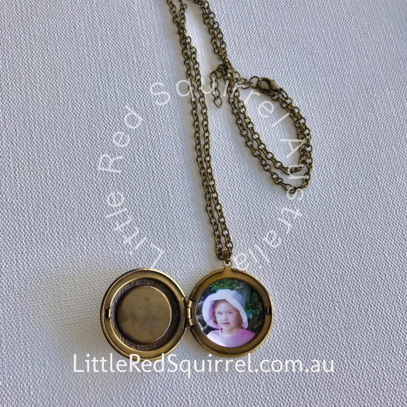 Squirrel locket necklace