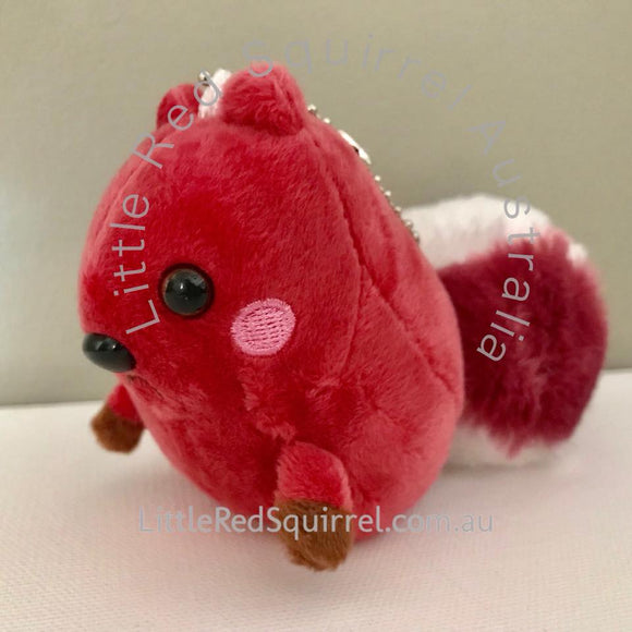 Small red squirrel plush keyring (not a toy!) (1 piece)