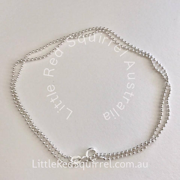 45cm sterling silver ball chain necklace - 1.5mm balls