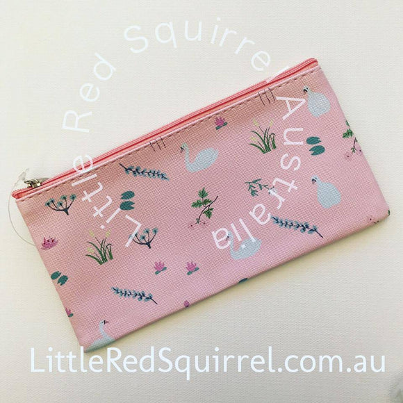 Swan PU pencil case