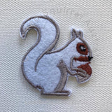 Squirrel iron on patch (one piece)