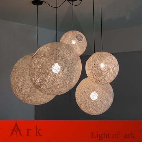 ARK LIGHT - Modern Wicker Sepa Takraw w/Cane Shades Pendant - 120V E27