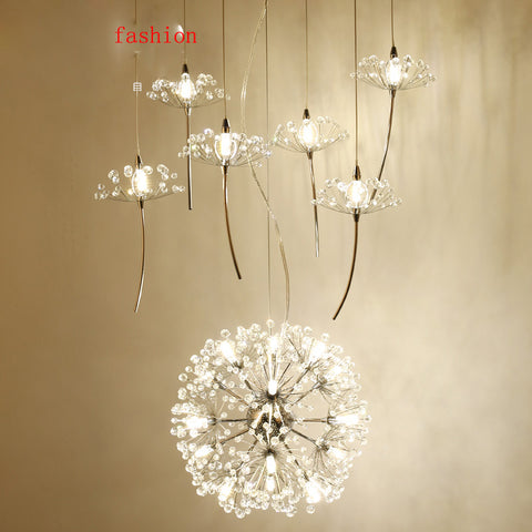 YOUZHENGJIA - Northern Europe Crystal Dandelion Chandelier - 120V LED