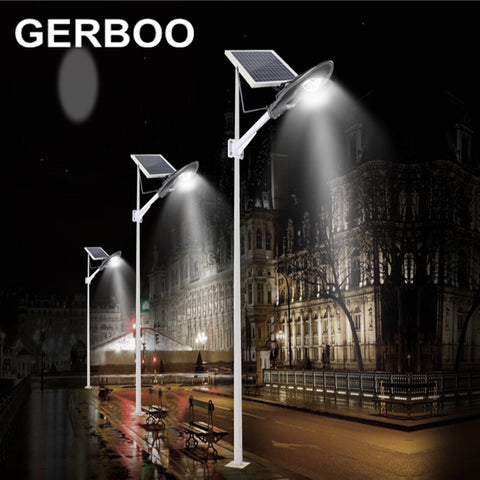GERBOO - Outdoor Garden Path Lights with light control/timer - 16V 60W Solar Panel LED COB 30W