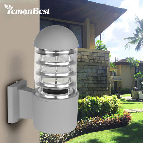 Lemon Best - Outdoor Waterproof Aluminum Glass Lampshade Wall Mount - 120V E27 LED