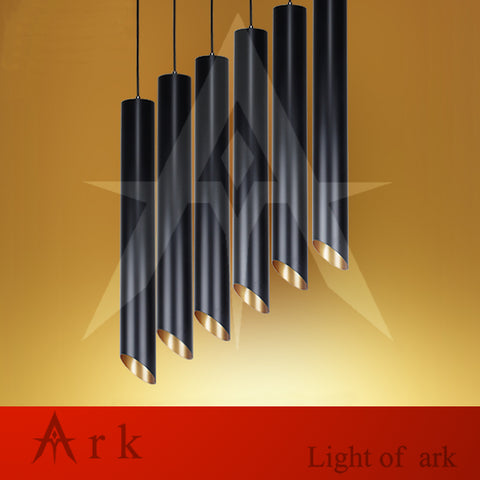 ARK LIGHT - 8cm Black Aluminum Pendant - 120V E27