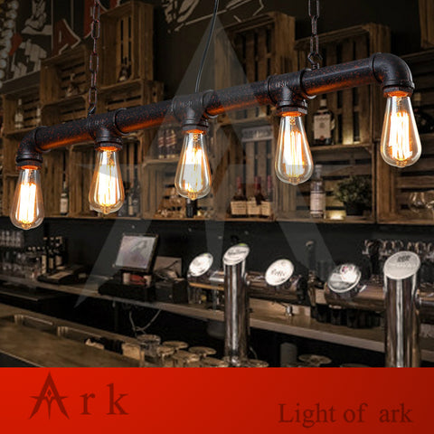 ARK LIGHT - Vintage Bar Lighting Water Pipe Pendant - 120V E27