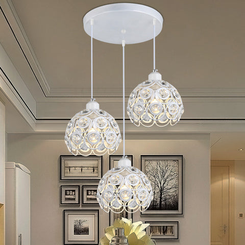 KONESKY - Antique Hanging Crystal Pendant (Adjustable) - 120V LED