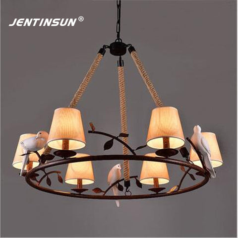 JENTINSUN - American Village Iron Birds Chandelier - 120V E27 LED