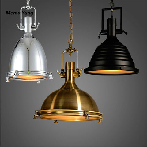 Memo Yung - Retro Industrial Pendant Lights - 120V E27