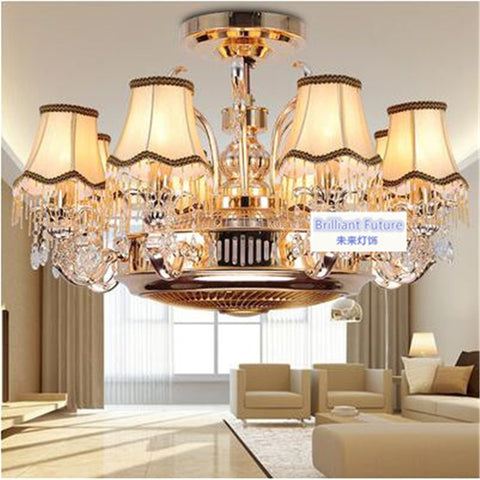 ANION - Traditional European-Style Ceiling Fan w/ Remote Control - 120V E27 LED