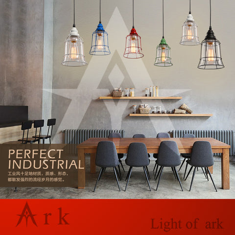 ARK LIGHT - Modern Glass Antique American style Pendant - 120V E27