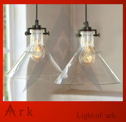 ARK LIGHT - Art Deco Single Glass Bell Pendant - 120V E27