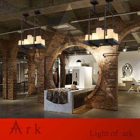 ARK LIGHT - Art Deco Vintage Flush Mount Wrought Iron Chandelier - 120V LED