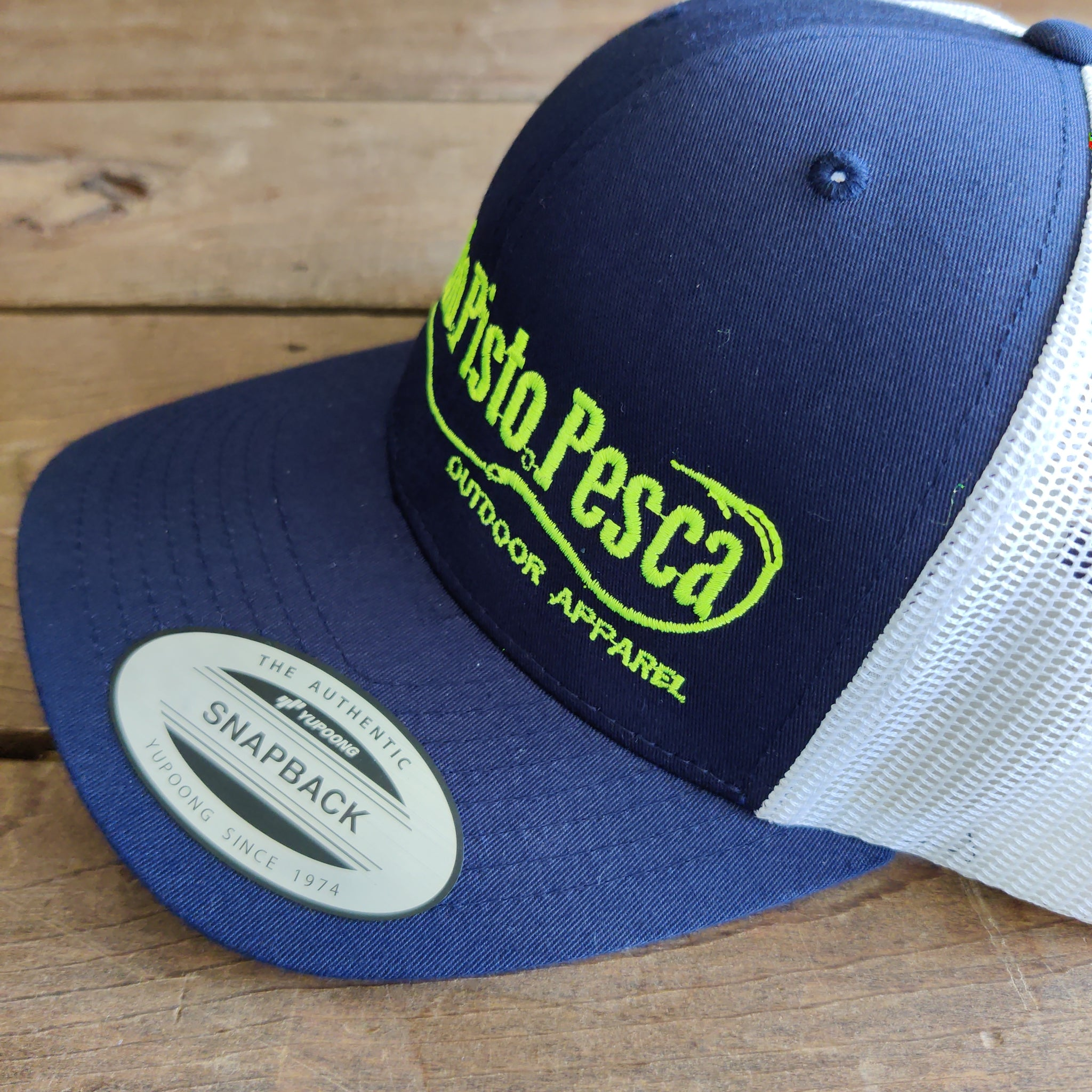 Navy/White Mesh Trucker Cap