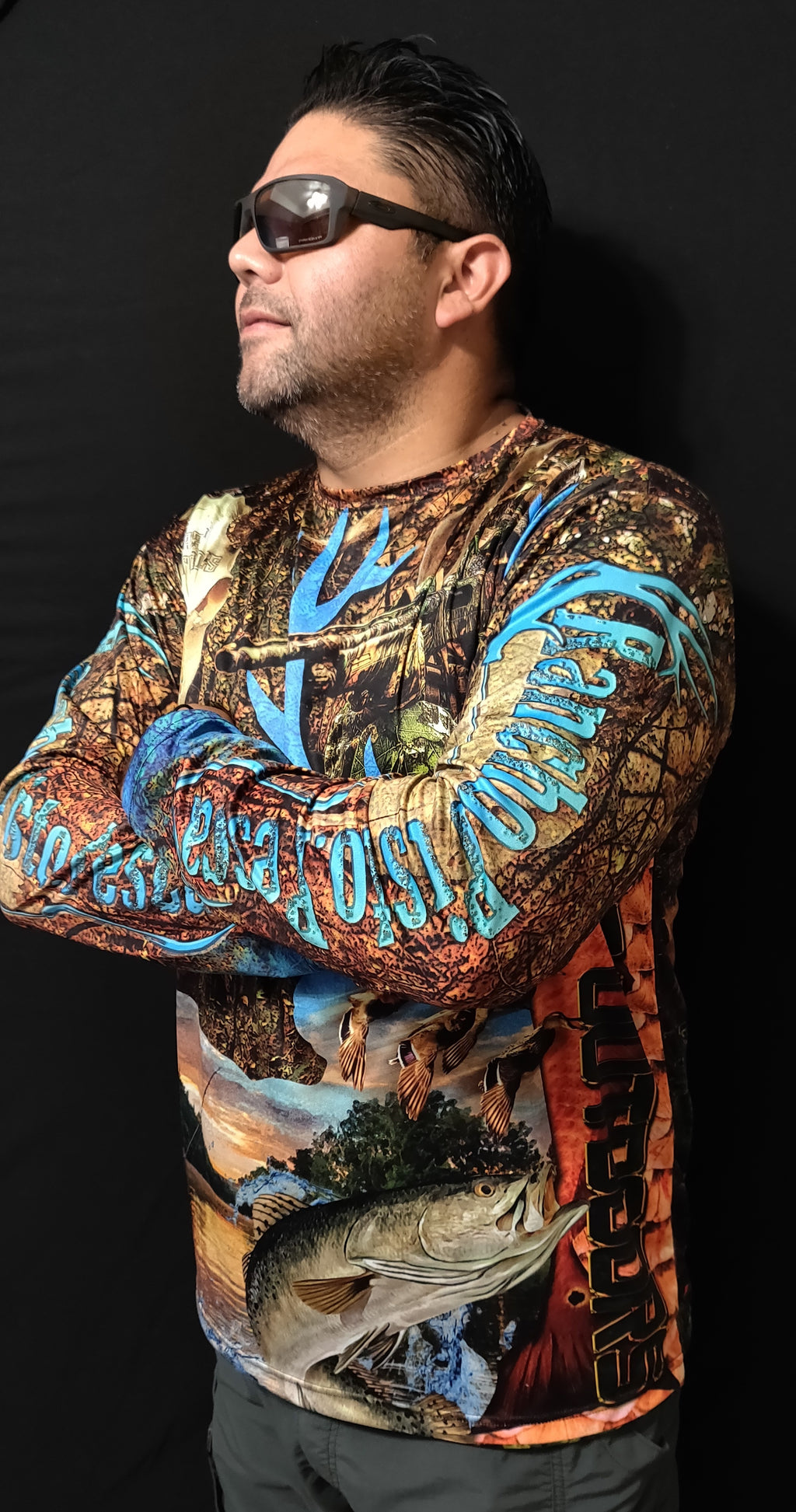 "RPP Custom Camo ""Blu Interrupt"" Long Sleeve DriFit"
