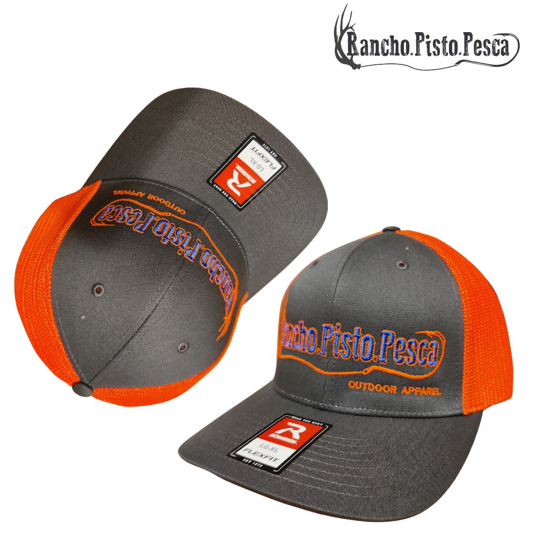 Fitted Hunter Orange Charcoal/Royal Embroidery