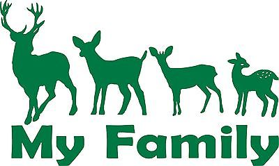 "Family Hunting Deer Buck Doe Baby Fawn Car Truck Window Vinyl Decal Sticker - 15"" Long Edge"