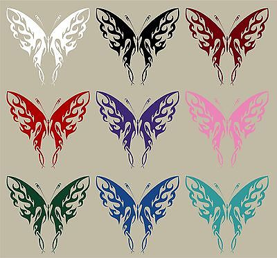 "Butterfly Tribal Flame Design Truck Car Window Laptop Vinyl Decal Sticker - 12"" Long Edge"
