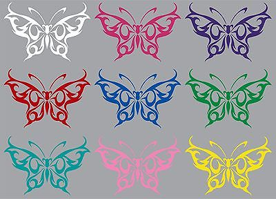 "Butterfly Tribal Design Truck Car Tattoo Window Laptop Vinyl Decal Sticker - 12"" Long Edge"