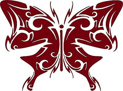 "Butterfly Tribal Wings Truck Car Tattoo Window Laptop Vinyl Decal Sticker - 7"" Long Edge"