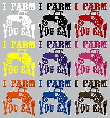 "Farm Tractor Farming Agriculture Funny Truck Window Laptop Vinyl Decal Sticker - 6"" Long Edge"