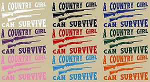 Country Girl Shotgun Gun Hunting Car Truck Window Laptop Vinyl Decal Sticker - 8""