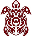 "Tribal Turtle Ocean Sea Pet Car Truck Window Graphic Vinyl Decal Sticker - 8"" Long Edge"
