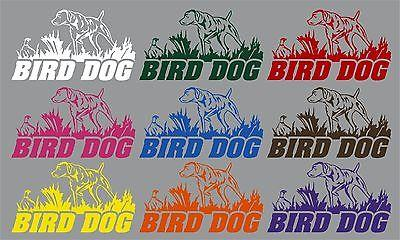 "Bird Dog Hunting Pheasant Duck Car Boat Truck Laptop Window Vinyl Decal Sticker - 9"" x 5"""