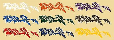 Wild Horses Running Western Rodeo Car Truck Window Wall Vinyl Decal Sticker - 5""