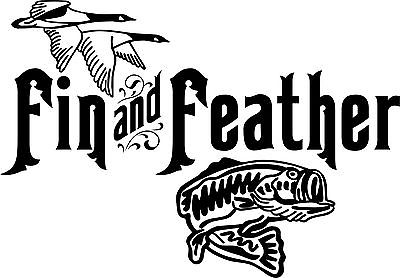 "Fish Bass Fishing Bird Duck Geese Hunting Car Truck Window Vinyl Decal Sticker - 6"" Long Edge"