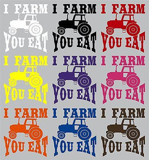 "Farm Tractor Farming Agriculture Funny Truck Window Laptop Vinyl Decal Sticker - 9"" Long Edge"