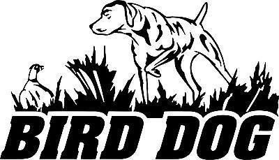 "Bird Dog Hunting Pheasant Duck Car Boat Truck Laptop Window Vinyl Decal Sticker - 12"" x 7"""