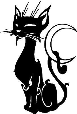 Cat Kitten Pet Moon Animal Car Truck Window Laptop Vinyl Decal Sticker - 8""