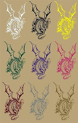 "Dragon Mystical Creatures Fantasy Truck Car Tattoo Window Vinyl Decal Sticker - 13"" Long Edge"