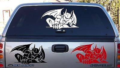 "Gargoyle Creature Monster Beast Car Truck Window Vinyl Decal Sticker        - 28"" x 15.5"""