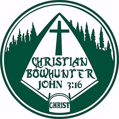 "Christian Christ Cross Bow Hunting Arrow Car Truck Window Vinyl Decal Sticker - 10"" Long Edge"