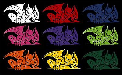 "Gargoyle Creature Monster Car Truck Window Laptop Vinyl Decal Sticker - 10"" Long Edge"