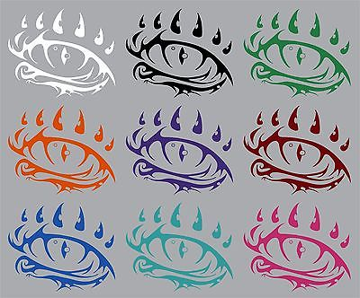 "Dragon Eye Fantasy Mystical Creature Beast Car Truck Window Vinyl Decal Sticker - 12"" Long Edge"