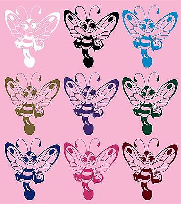 "Butterfly Bee Girl Faerie Fairy Car Truck Window Laptop Vinyl Decal Sticker - 9"" long edge"