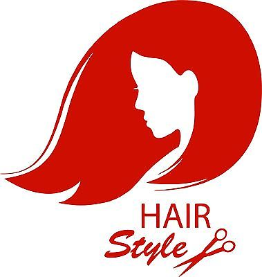 Hair Girl Stylist Beauty Tanning Salon Car Truck Window Vinyl Decal Sticker - 9""