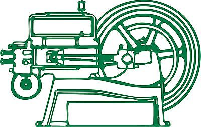 "Hit and Miss Engine Tractor Farm Equipment Car Truck Window Vinyl Decal Sticker - 10"" Long Edge"