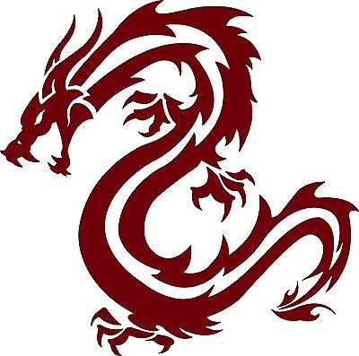 "Dragon Fantasy Mystical Creature Beast Car Truck Window Vinyl Decal Sticker - 5"" Long Edge"